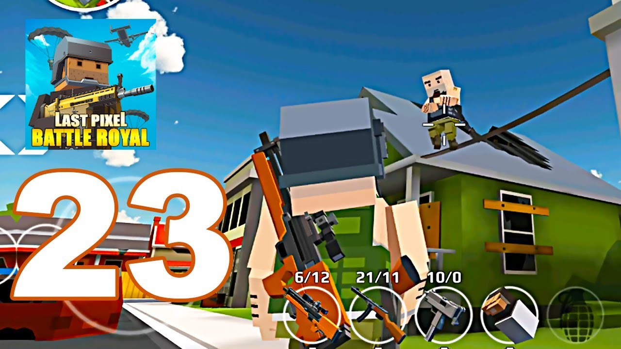 URB: Last Pixels Battle Royale - Gameplay Walkthrough Part 23 - 10 Kills  (Android Games)