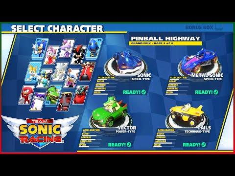 Team Sonic Racing PC Hard Play #2 Grand Prix Race PinBall HighWay CirCuit 4P |