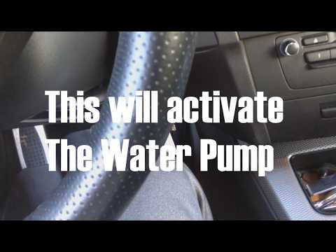 How To  Burp Trapped Air From BMW Cooling System/Water Pump Test