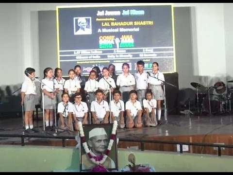 Group singing of a Patriotic Song by students of Scottish High International School