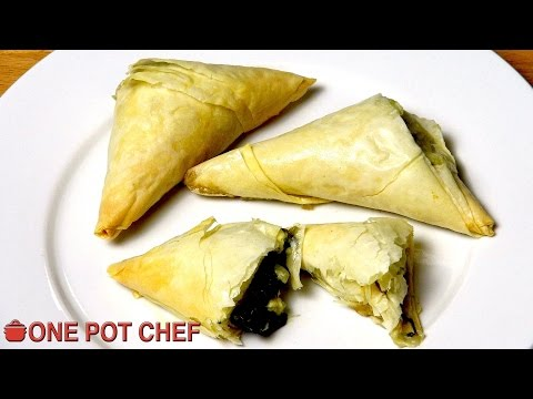 Spinach And Feta Filo Triangles | One Pot Chef