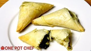 Spinach And Feta Filo Triangles - Recipe