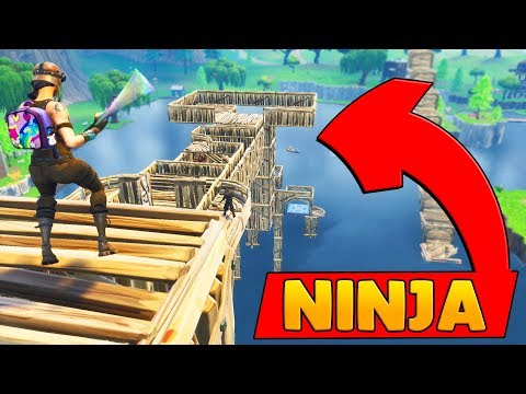 insane ninja warrior course in fortnite custom game in today s fortnite building video we create a parkour course with bounce pads and trap towers - fortnite ladder