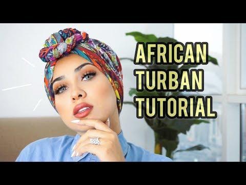 African Turban Tutorial by Retta.a طريقة التوربان الافريقي - YouTube