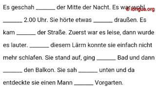 A1, A2, B1, B2, C1, Übungen, Präpositionen, Akkusativ, Dativ, Wechselpräpositionen, einsetzen, in...