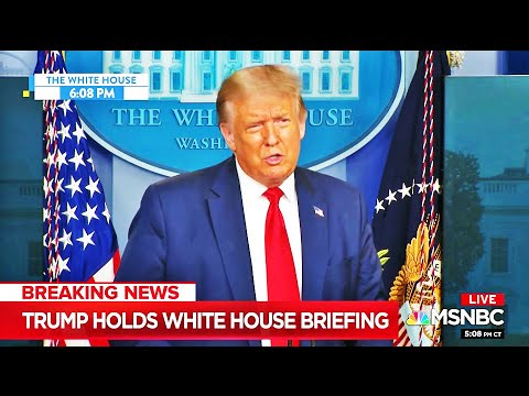 Trump Lies for 5 Straight Minutes During Whacked Briefing
