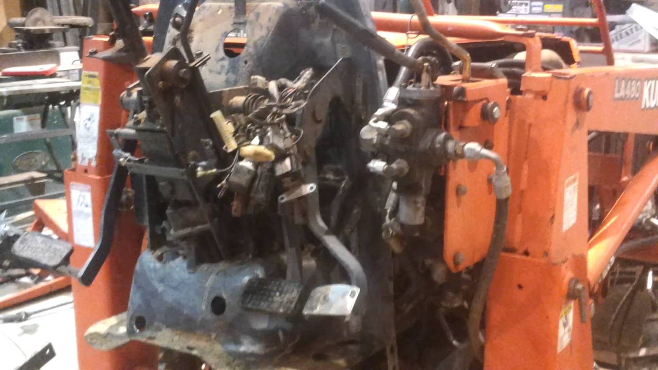Home Made Tractor Clutch : Kubota l tractor split for clutch service grand