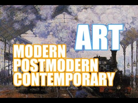 relationship between postmodernism and modernism art