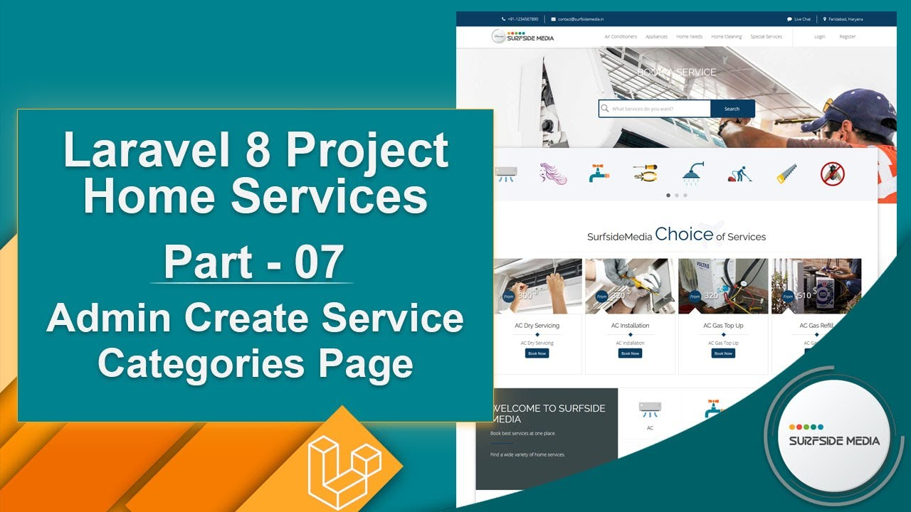 Laravel 8 Project Home Services - Admin Create Service Categories Page