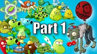 plants vs zombies 2 modern day balloon zombie vs every plant power up part 1