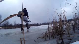 Ловля щуки и окуня весной. Последний лед. Пред-закрытие сезона 2016-2017