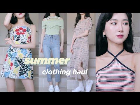 (eng) SUMMER FASHION HAUL 2019 여름맞이 패션하울 🛍 / 여름옷, 귀걸이, 스니커즈 추천 | Minjeong Park