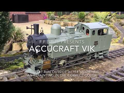 Accucraft Saxonian VIK first test run (Live Steam on the F.F.L.R.R.)