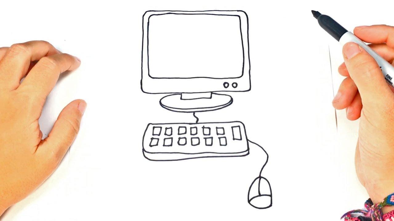 Cómo Dibujar Una Computadora Paso A Paso