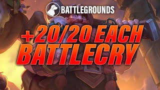 +20/20 For Each Battlecry | Dogdog Hearthstone Battlegrounds