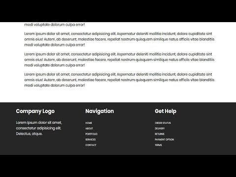 How  To Create Footer Reveal Effect Using Only Html Css