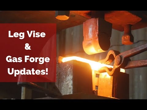 Leg Vise and Gas Forge Updates + Mank Tank Challenge!!