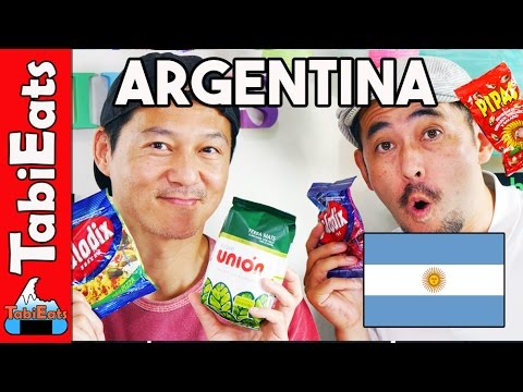 Japanese Try Argentina Snacks and Candies (Food Haul)