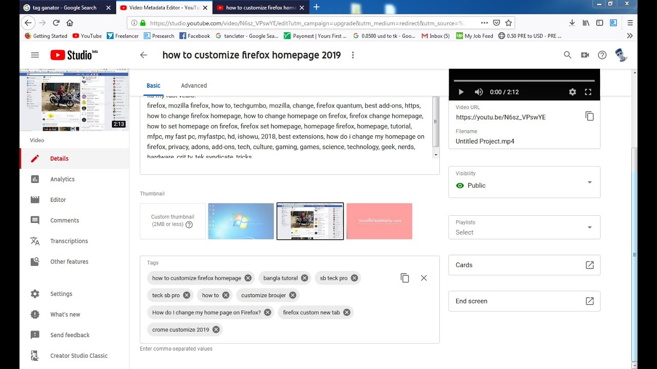 how to customize firefox homepage 2019 - YouTube