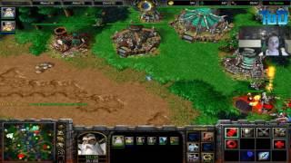 Warcraft III #22 ToD & Grubby 2v2 vs Human&Orc (Basalt Basin)