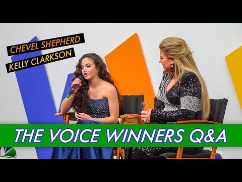 Chevel Shepherd and Kelly Clarkson - The Voice Winners Q&A