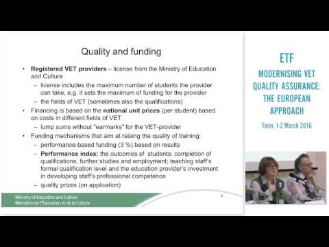 Quality assurance in vocational education and training - the case of Finland