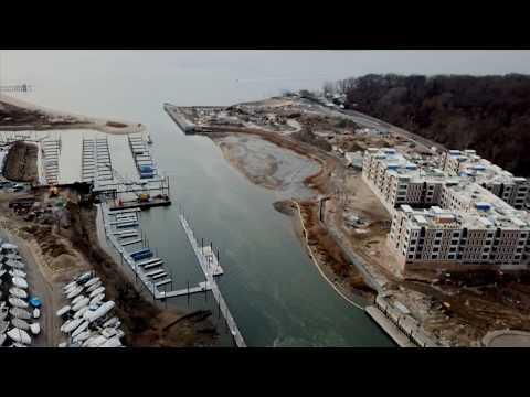 Aerial Video Tour Of The Glen Cove Creek And It's Shoreline.
