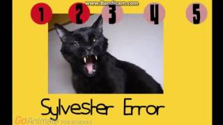 sylvester the talking kitty cat error barney error part 1