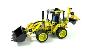 Lego Technic 42004 Mini Backhoe Loader Speed Build And Review