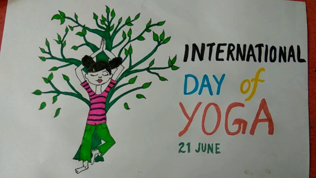 International Yoga Day Special Artwork K4 Craft
