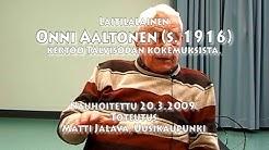 Sotaveteraani Onni Aaltonen Laitilasta kertoo talvisodasta