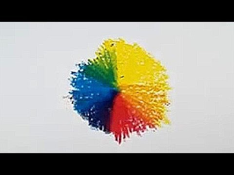 How To Draw A Colour Wheel Using 3 Primary Colours Youtube
