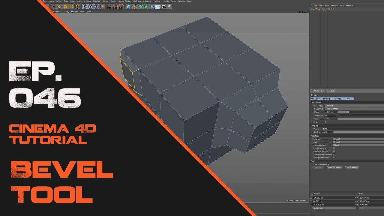 Learn the Bevel Tool in Cinema 4D