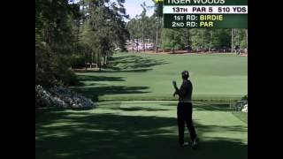 Tiger Woods Cussing at 2015 Masters - F Bomb