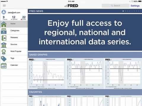 FRED Mobile App | How to Use FRED