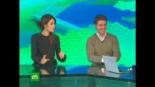 Том Круз и Ольга Куриленко в студии НТВ (премьера фильма