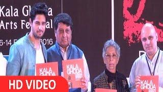 Sidharth Malhotra Inaugurates The Kala Ghoda Arts Festival 2016