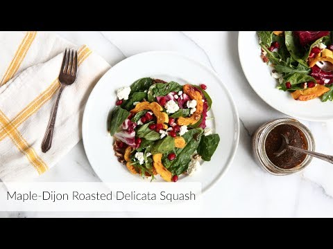 How to Make Roasted Delicata Squash | maple roasted delicata squash salad