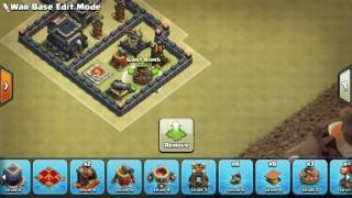The strongest war base: Base war TH 9 terkuat (replay attact) - November 2016 - tipe 13