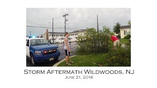 Wildwood Storm Damage 80mph Wind Gusts June 21, 2016