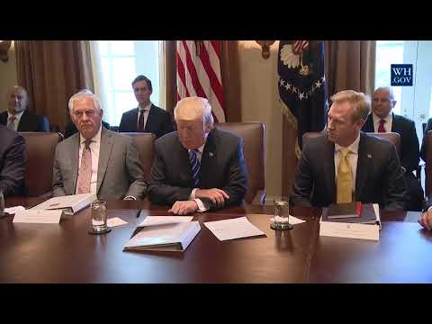 MUST WATCH: President Trump Holds a Cabinet Meeting