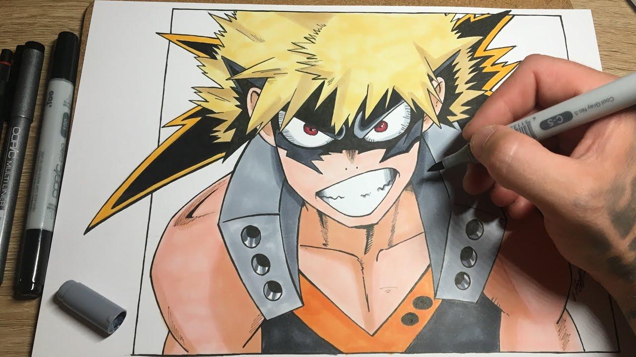 Katsuki Bakugo Drawing My Hero Academia Part 2 Bakugou Kacchan