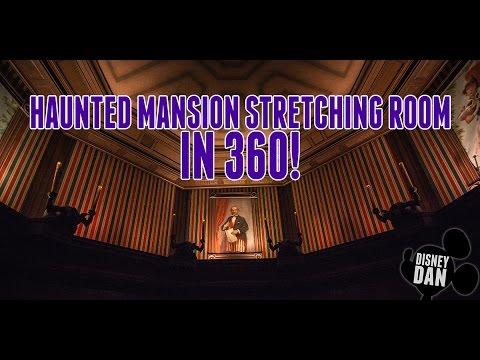 Haunted Mansion Stretching Room In 360! Disney World Magic Kingdom