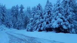 Stuck in snow at Karakoram Highway from Skardu to Rawalpindi