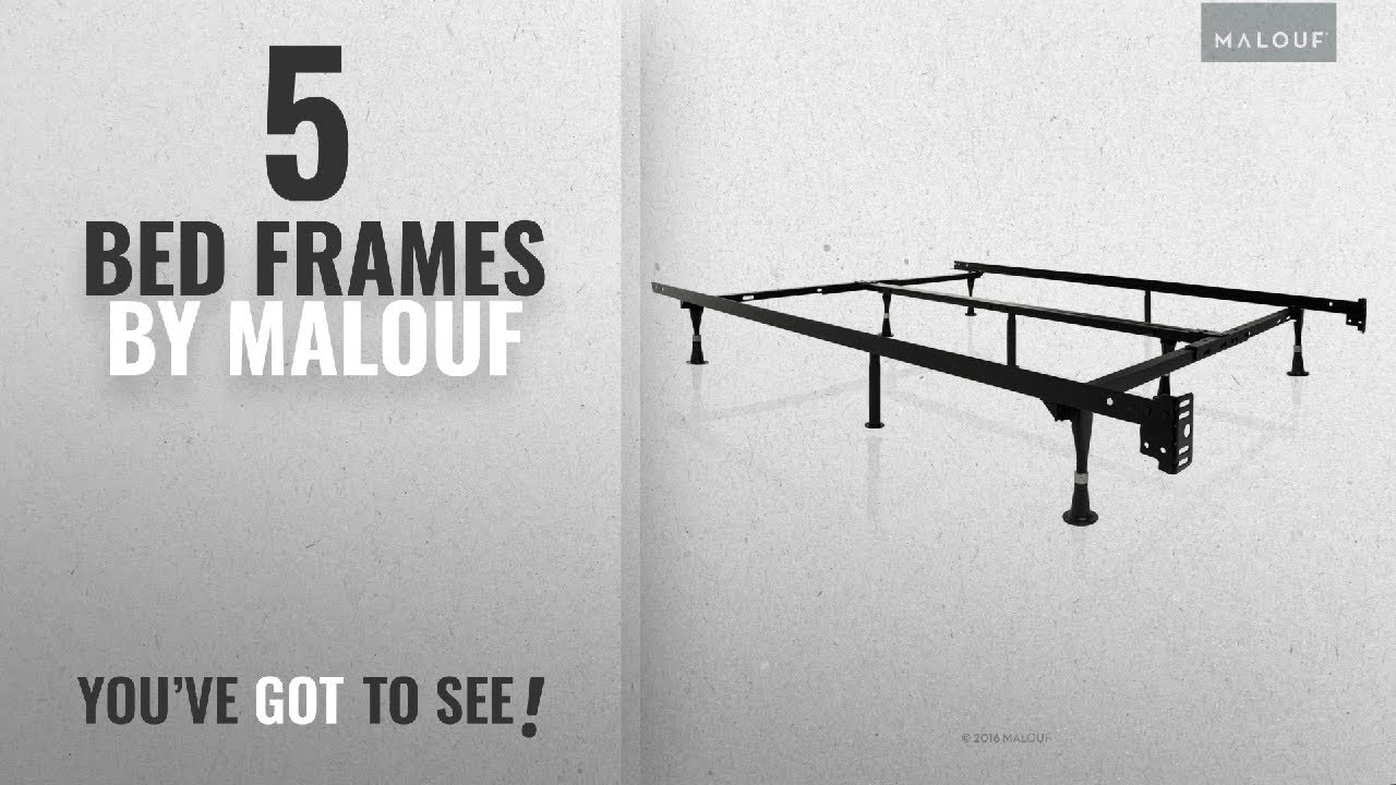 the latest d2a50 7565d Top 10 Malouf Bed Frames [2018]: STRUCTURES by Malouf Heavy Duty 9-Leg  Adjustable Metal Bed Frame