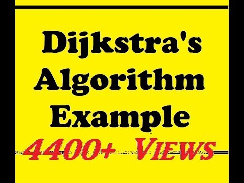 Dijkstra's Algorithm Example in Hindi.
