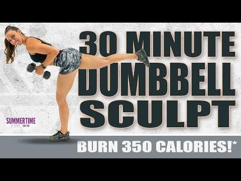 30 Minute Full Body Dumbbell Sculpt Workout! ��Burn 350 Calories!* ��Sydney Cummings