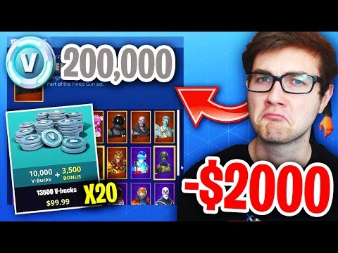 How Much MONEY Have I WASTED On Fortnite: Battle Royale? (THIS IS SAD)