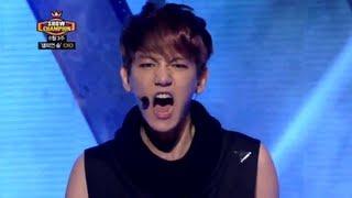 EXO - Wolf, 엑소 - 늑대와 미녀, Show Champion 20130703