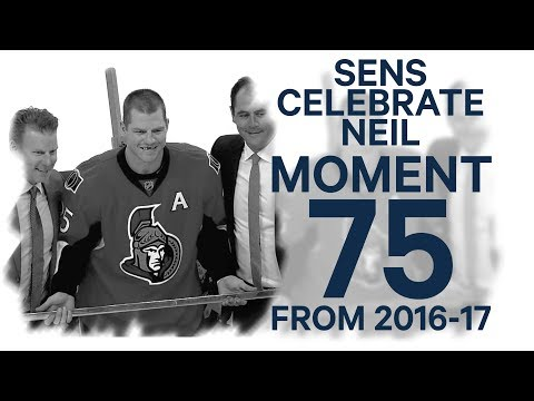 No. 75/100: Senators honour Chris Neil for playing 1000th game